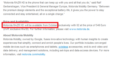 motorola press release essay Motorola specifically decided not to issue a new press release or otherwise make any timely public disclosure of this motorola issued a press release.